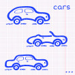 Paper car set — Vetorial Stock