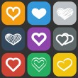 Hearts icons set — Stock Vector