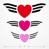Simple graphic love emblems — Vector de stock