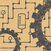 Steampunk pattern — Stock Vector