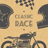 Retro motorcycle — Stock Vector