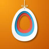 Paper egg — Stock Vector