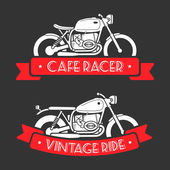 Retro motorcycle logo set — Stock Vector