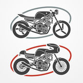 Two motorcycles — Stock Vector