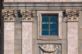 Windows with columns. — Stock Photo