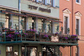 The terrace restaurant. — Stock Photo
