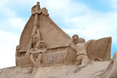 The sculptural composition of the sand. — Stock Photo