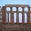 The ruins of the Temple of Poseidon. — Stock Photo