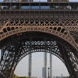Stock Photo: Arch of Eiffel Tower.