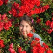 Stock Photo: Girl and roses.