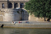 Seine embankment. — Stock Photo