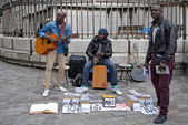 Street musicians. — Stock Photo