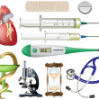 Medical icons and symbols vector set isolated on white. — Stockvector