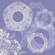 Round seamless lace set — Stock Vector