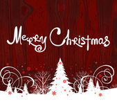 Handschrift. frohe weihnachten. — Stockvektor