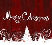 Handwriting. Merry Christmas. — Stock Vector
