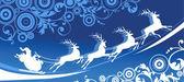 Van de kerstman — Stockvector