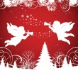 Christmas Angels. — Stock Vector