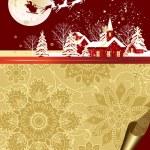 Santa's sleigh. — Stock Vector #14076923