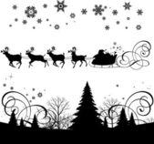 Santa's sleigh. — Stock Vector