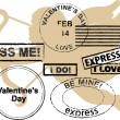 Valentines Day rubber stamps — Stock Vector