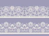 White and black seamless lace — Stock Vector
