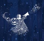 Vánoční andělé. — Stock vektor