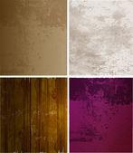 Conjunto de álbum de recortes. texturas de papel viejo — Vector de stock