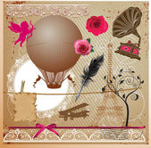 Vintage Collection - for design, scrapbook - in vector — 图库矢量图片
