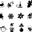 Vector set of Christmas and New-Year's silhouettes — Stock Vector #39902707