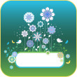 Floral background with birds and flowers — Stock vektor