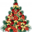 Christmas Tree Design — Vector de stock #39903381