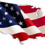 USA. Flag-map — Stock Vector