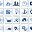 Set of icons for website — Stock Vector