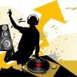 Mixing music concept — Stock Vector #39904379