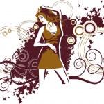 Tančící dívka — Stock vektor #39904425