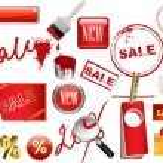 Set elements sale — Stock Vector