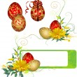 Frame with Easter eggs and flowers. — Stock Vector #39905015