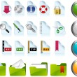 Stock Vector: Set of internet icons