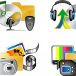 Set of multimedia internet icon — Stock Vector