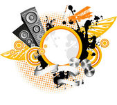 Music background. Vector illustration. — Stock Vector