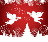 Christmas Angels. — Stock Vector