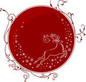 Christmas deer — Stock Vector