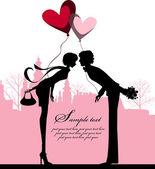 Valentine's background. — 图库矢量图片