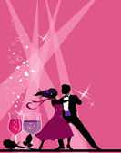 Ballroom dancers. — Stock Vector