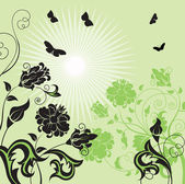 Spring meadows background. — Stock Vector