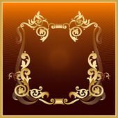 Golden vintage frame. — Stock Vector