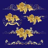 Golden Grapes. — Stock Vector