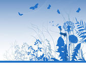 Spring meadows background — Stock Vector
