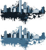 Panorama of the big city. — Stock Vector